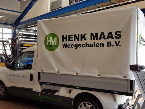 Huifzeil op pick-up